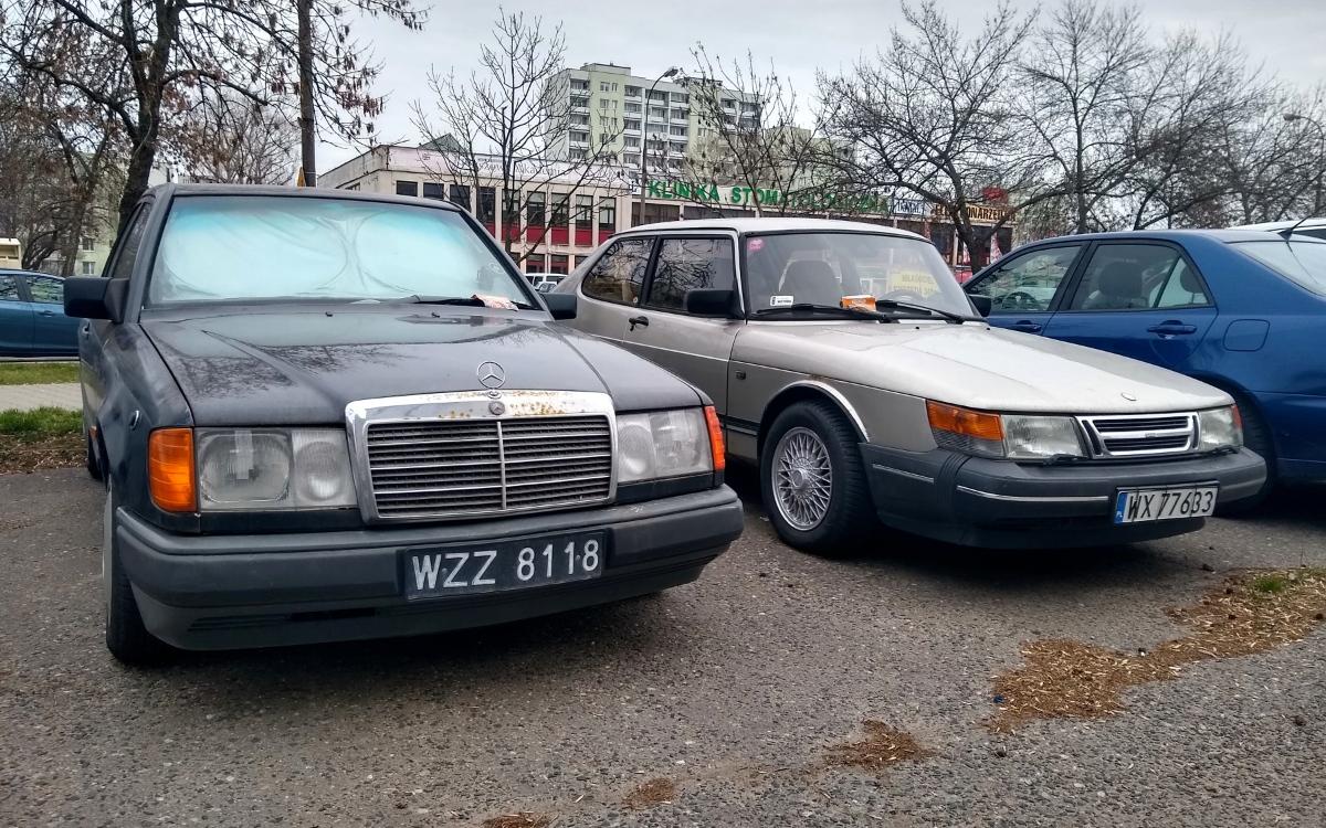 Mercedes W124 i Saab 900