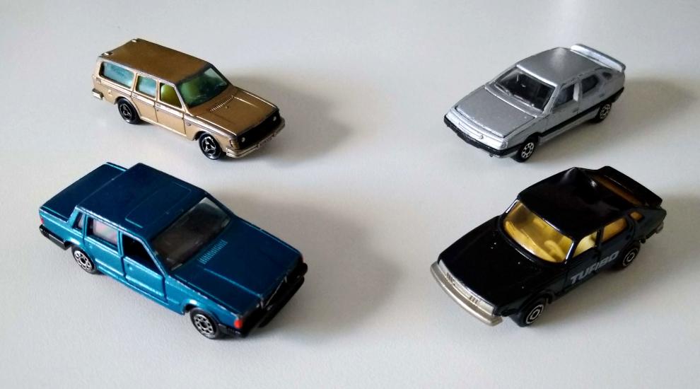 Majorette: Volvo 245 i 750, Saab 900 i Citroen XM