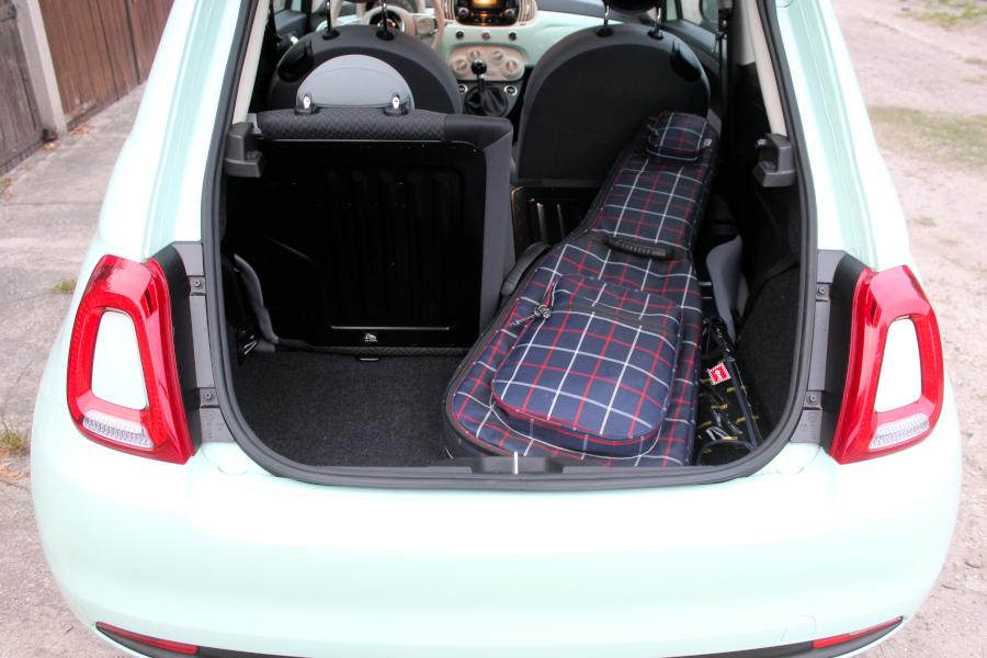Fiat 500 - bagażnik (dzielone oparcie)