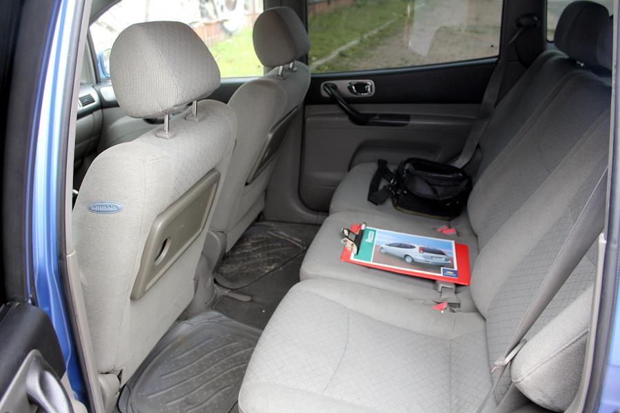 Chevrolet Tacuma - tylne siedzenia