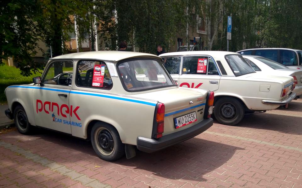 Trabant i Duży Fiat - Panek Carsharing