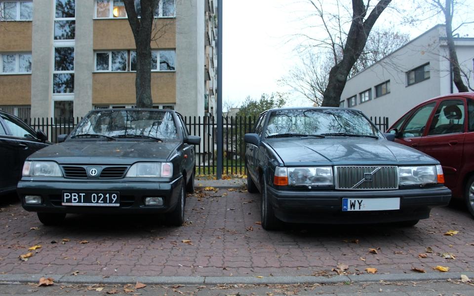 Polonez Caro Plus i Volvo 940