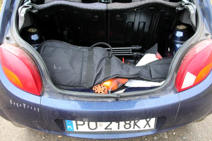 Ford Ka - bagażnik