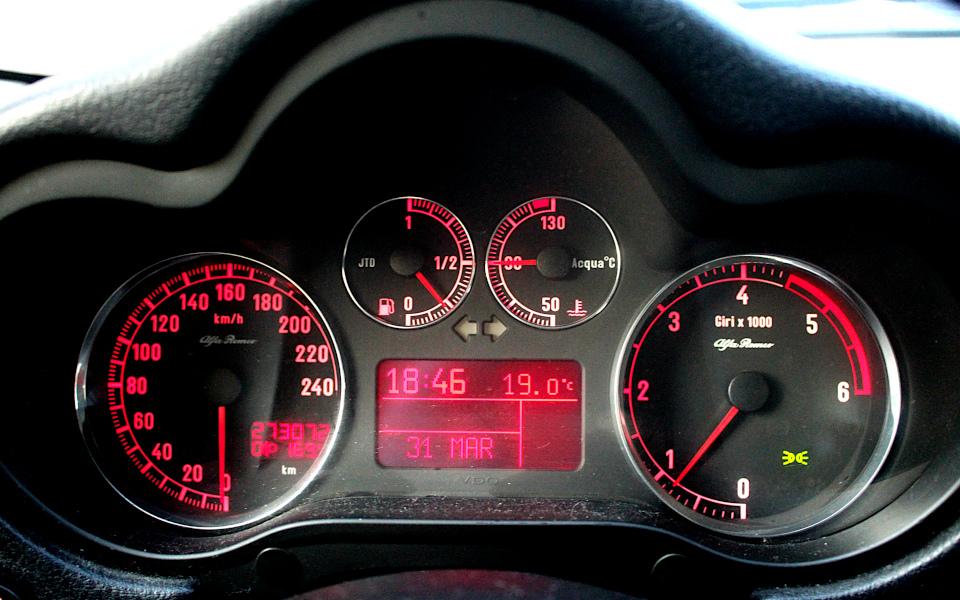 Alfa 147 - zestaw wskaźników