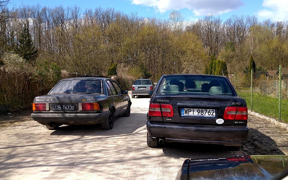 V Rajd Rembertowski - Opel Rekord i Volvo S70