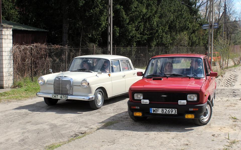 V Rajd Rembertowski - Mercedes W110 i Yugo Skala