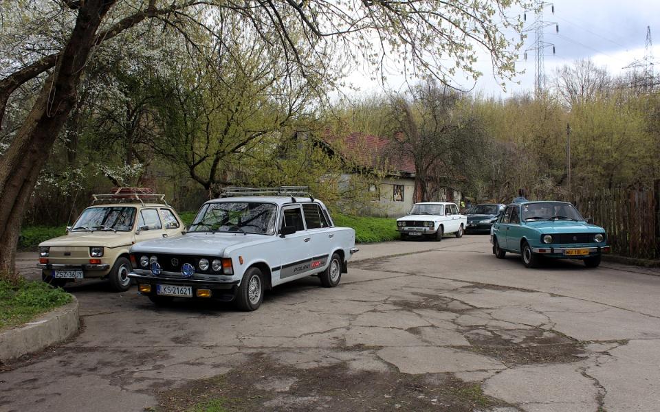 V Rajd Rembertowski - Maluch, Duży Fiat, Łada i Baldwinka