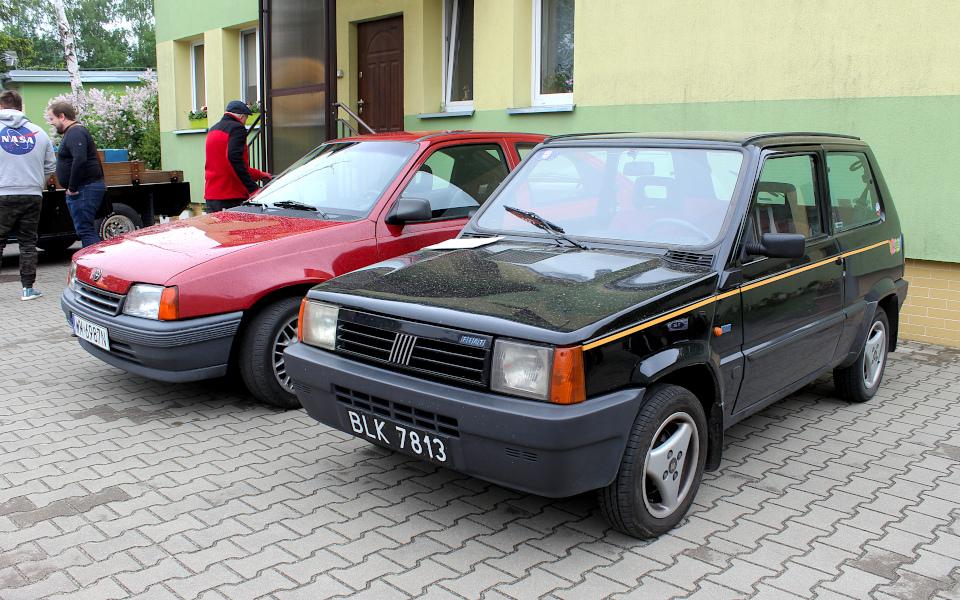 IX Rajd po Ziemi Mińskiej - Opel Kadett i Fiat Panda