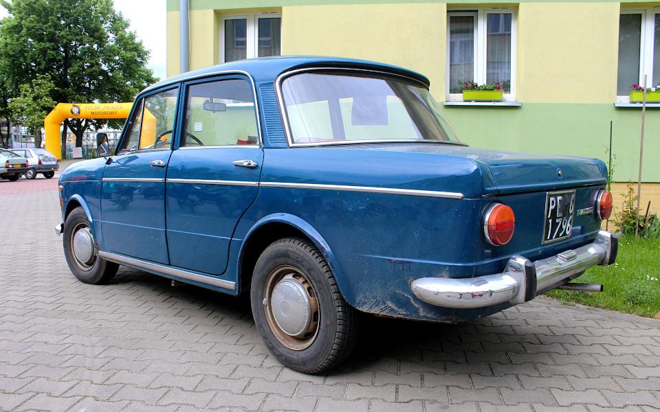 IX Rajd po Ziemi Mińskiej - Fiat 1100R na mecie