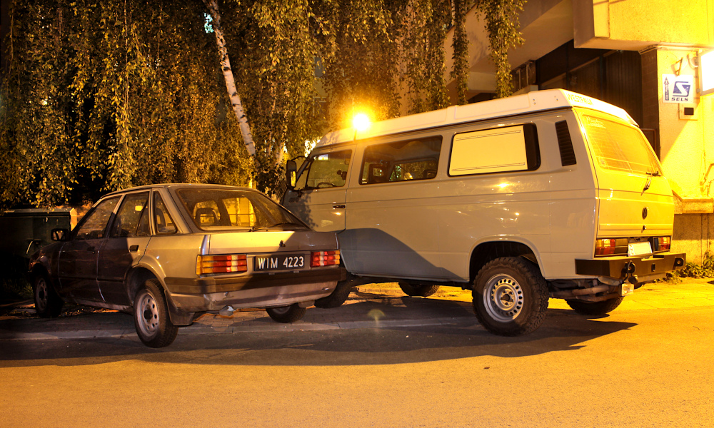 Ford Escort i VW Transporter T3