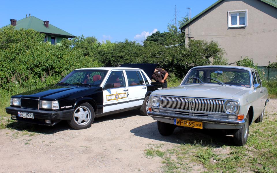 Królewski Rajd Sosnowy '21 - Volvo 740 i Wołga