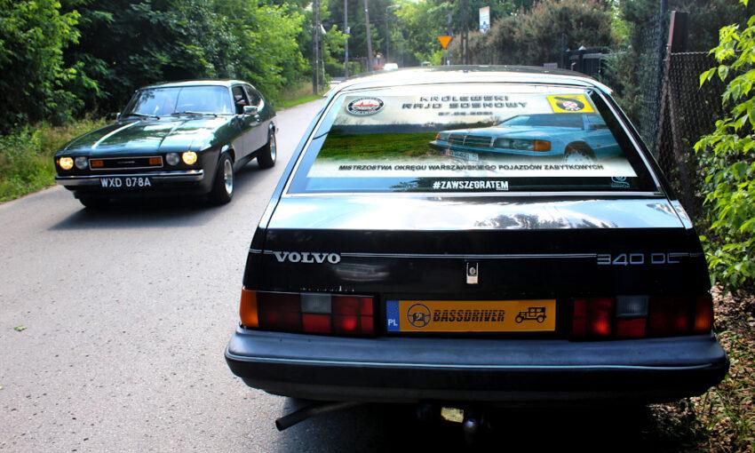 Królewski Rajd Sosnowy 2021 - Ford Capri i Volvo 340