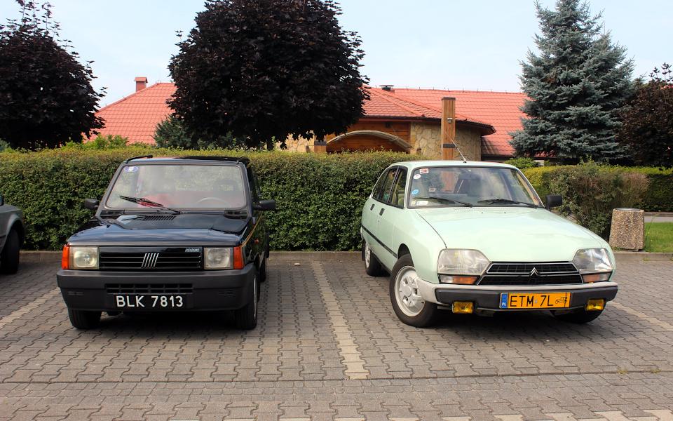 I Rajd Panorama - Fiat Panda i Citroen GSA