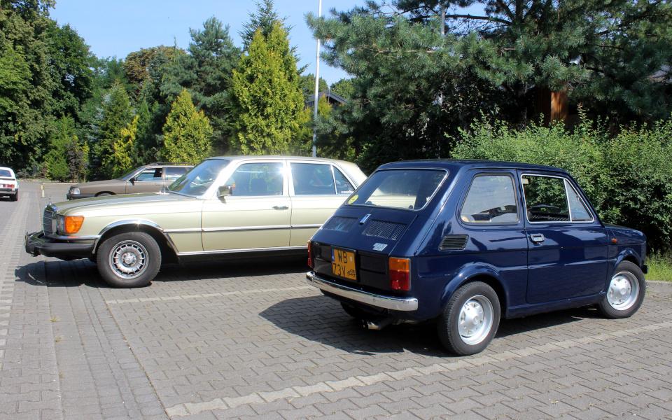 I Rajd Panorama - Mercedes W116 USDM i włoski Maluch