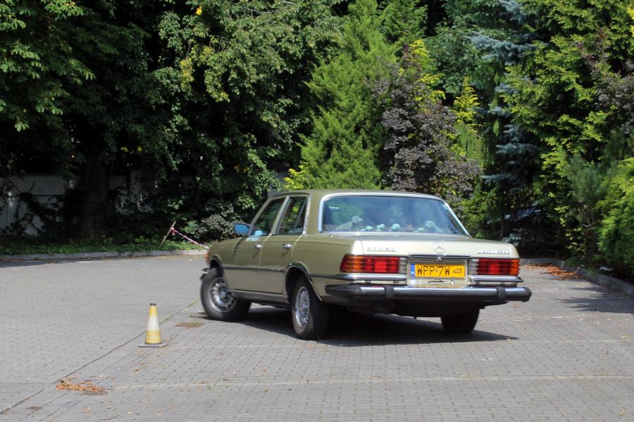 I Rajd Panorama - Mercedes W116 na próbie SZ