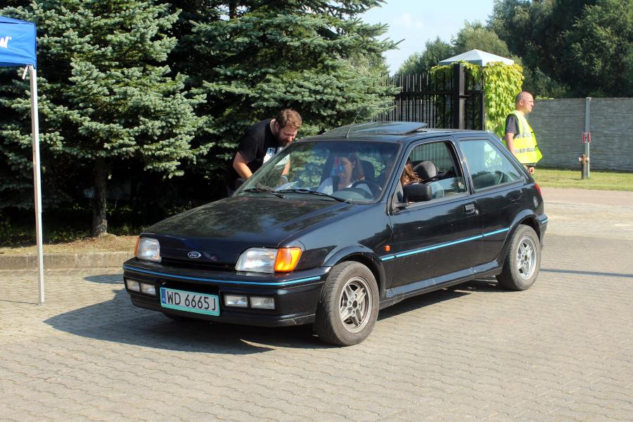 I Rajd Panorama - Ford Fiesta XR2i na mecie